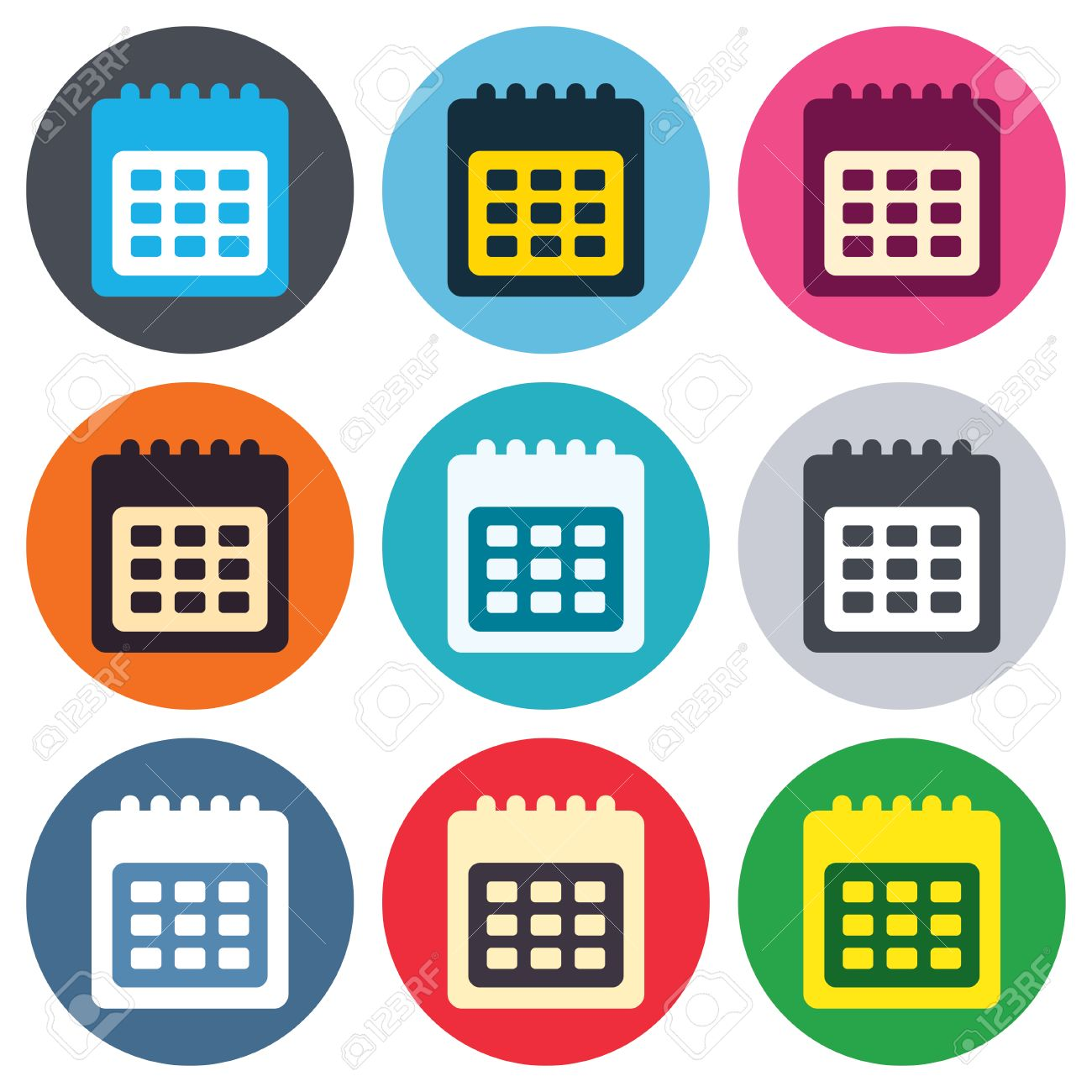 Calendar of Events Icon Calendar Sign Icon
