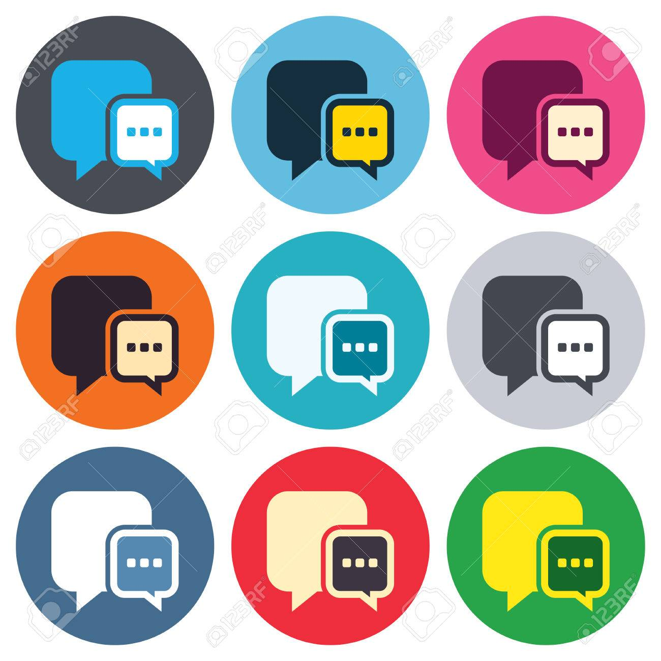 Chat sign icon speech bubble with three dots symbol speech bubble with three dots symbol communication chat bubble colored biocorpaavc