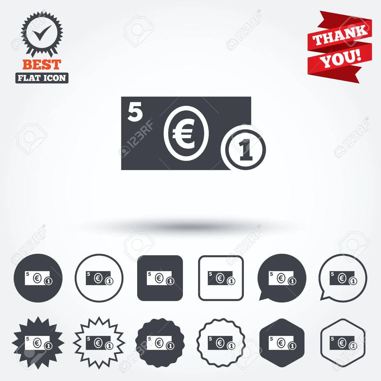 Cash sign icon euro money symbol eur coin and paper money cash sign icon euro money symbol eur coin and paper money circle buycottarizona Gallery