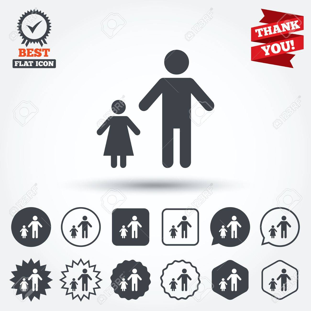 One parent family with one child sign icon father with daughter one parent family with one child sign icon father with daughter symbol circle biocorpaavc