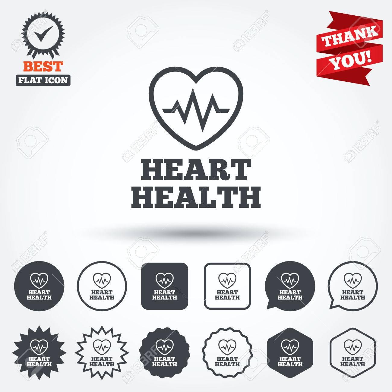 Heartbeat Sign Icon Heart Health Cardiogram Check Symbol Circle
