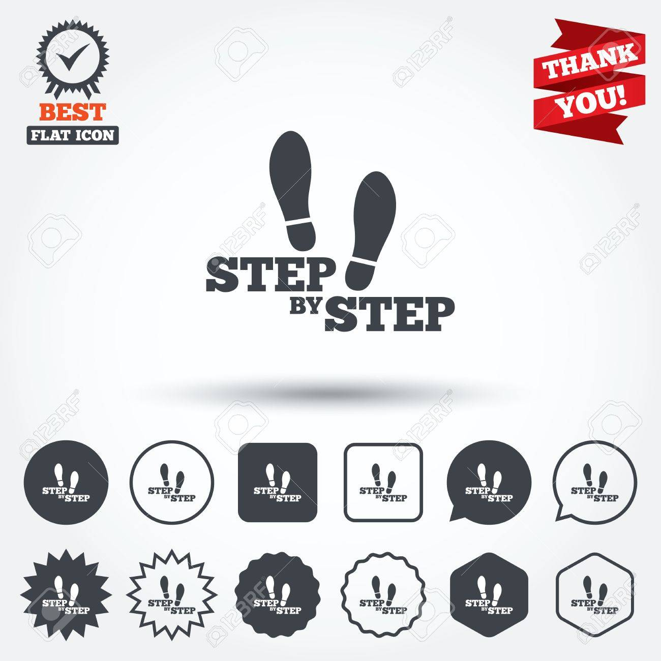 L'empreinte Étape De Chaussures Symbole Par Des Icône Signe Etape 7wpq8n