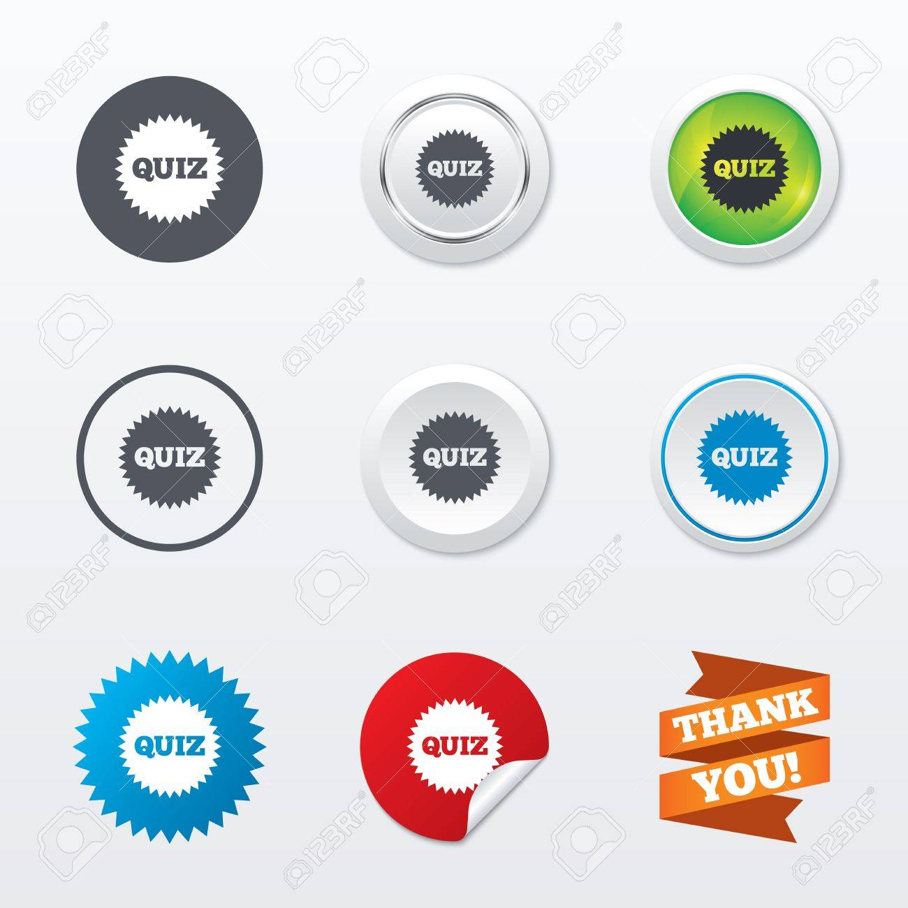 quiz star sign icon questions and answers game symbol circle quiz star sign icon questions and answers game symbol circle concept buttons metal