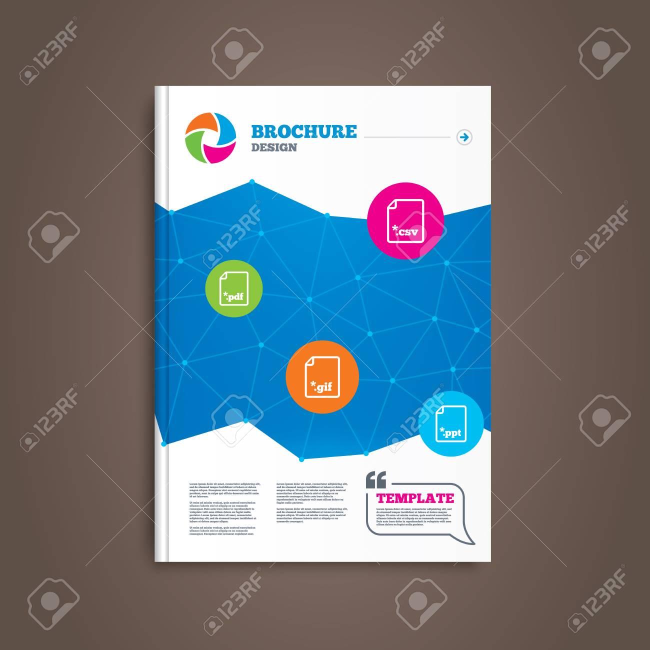 Broschüre Oder Flyer Design. Laden Sie Dokumentsymbole. Datei ...