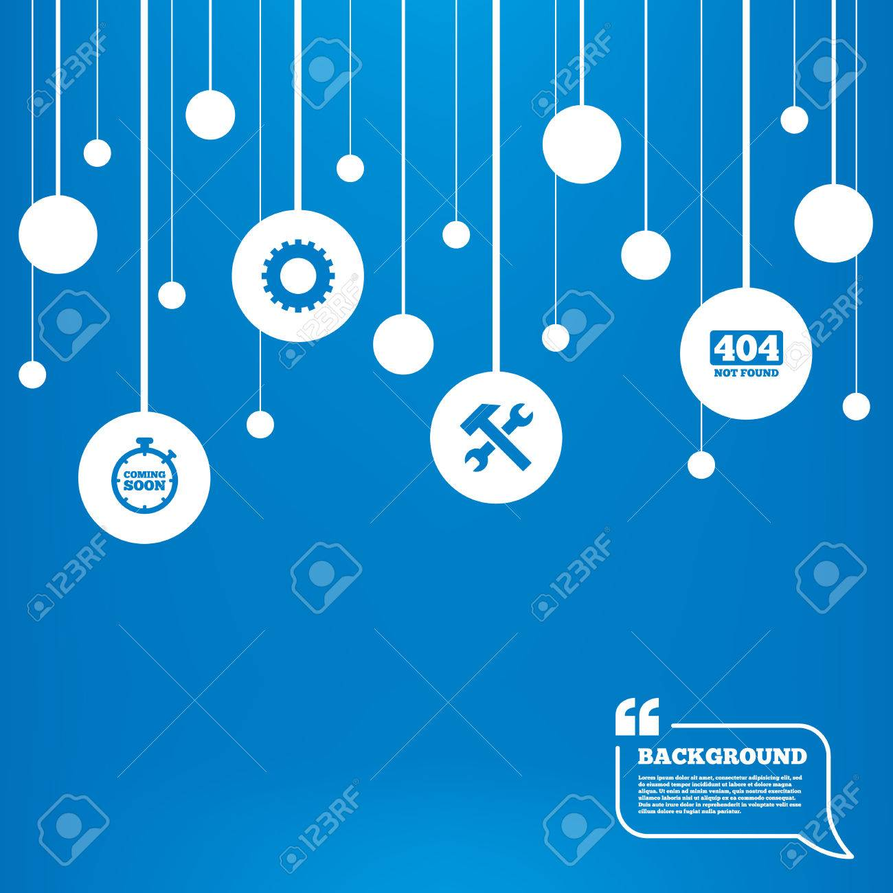 Background image 404 not found - Circles Background With Lines Coming Soon Icon Repair Service Tool And Gear Symbols