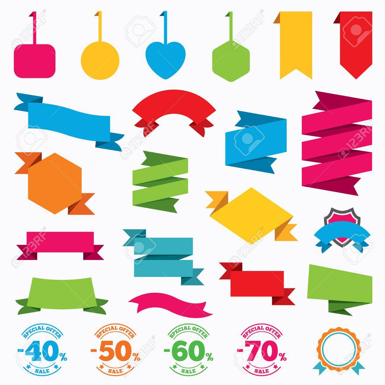 web stickers tags and banners sale discount icons special