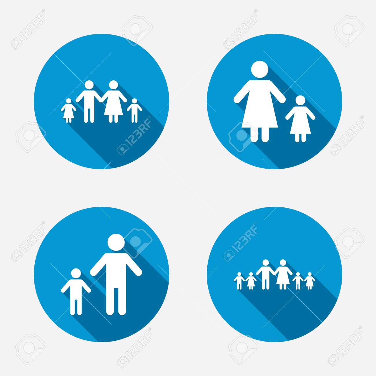 Large family with children icon parents and kids symbols one large family with children icon parents and kids symbols one parent family signs buycottarizona