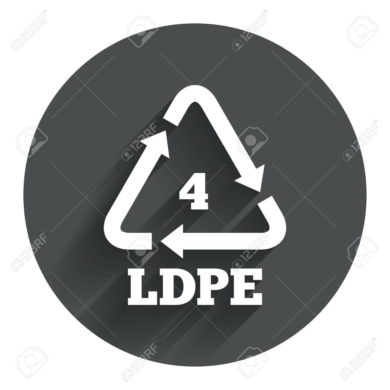 Ld pe 4 icon low density polyethylene sign recycling symbol ld pe 4 icon low density polyethylene sign recycling symbol circle biocorpaavc Choice Image
