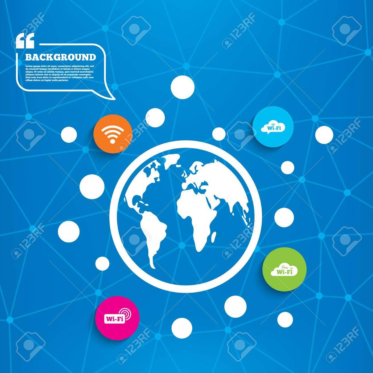 abstract world globe free wifi wireless network cloud speech