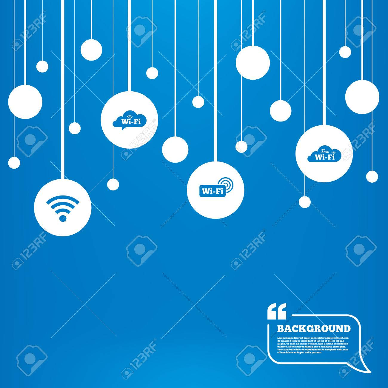 circles background with lines free wifi wireless network cloud