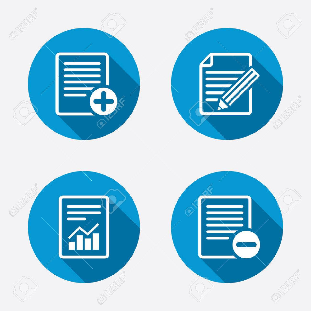 File document icons document with chart or graph symbol edit document with chart or graph symbol edit content with pencil sign buycottarizona