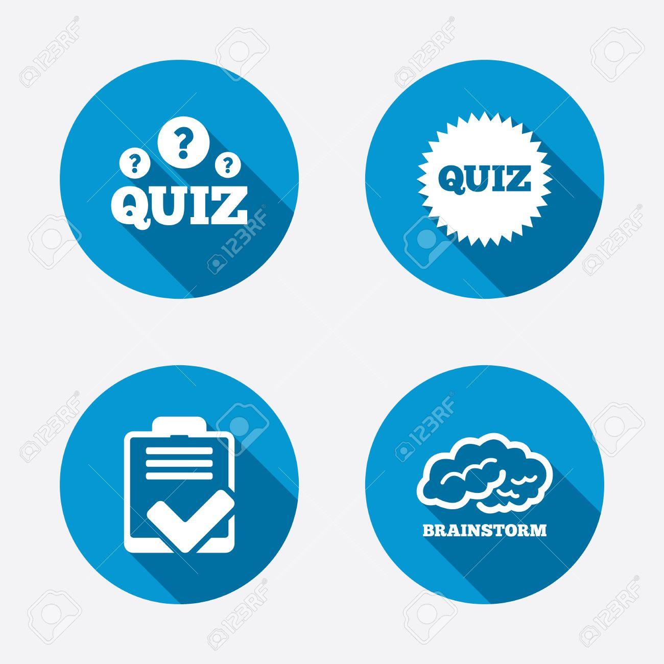 quiz icons brainstorm or human think checklist symbol survey quiz icons brainstorm or human think checklist symbol survey poll or questionnaire feedback