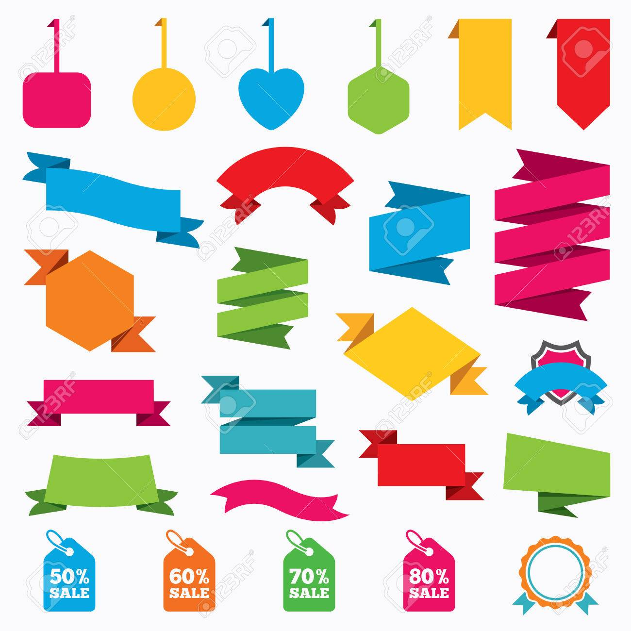 Web Stickers, Tags And Banners. Sale Price Tag Icons. Discount ...