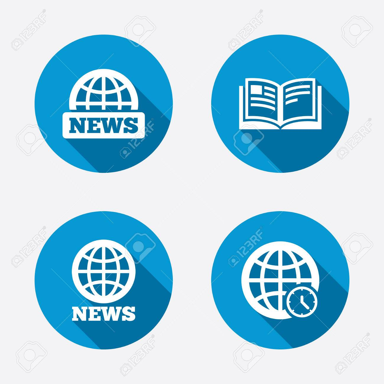 news icons world globe symbols open book sign education world globe symbols open book sign education literature circle concept