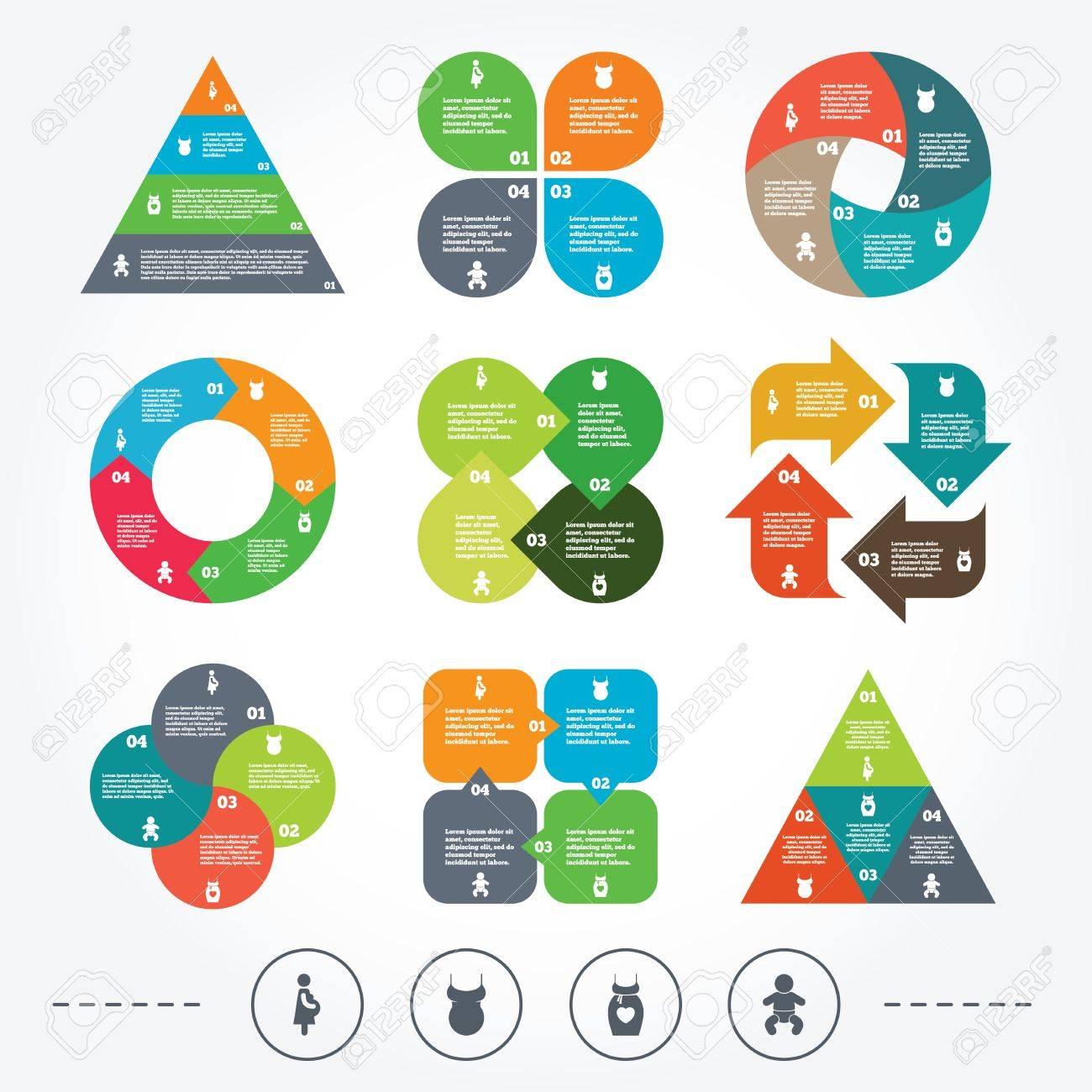Circle Y Diagrama Triángulo Gráficos. Iconos De Maternidad ...
