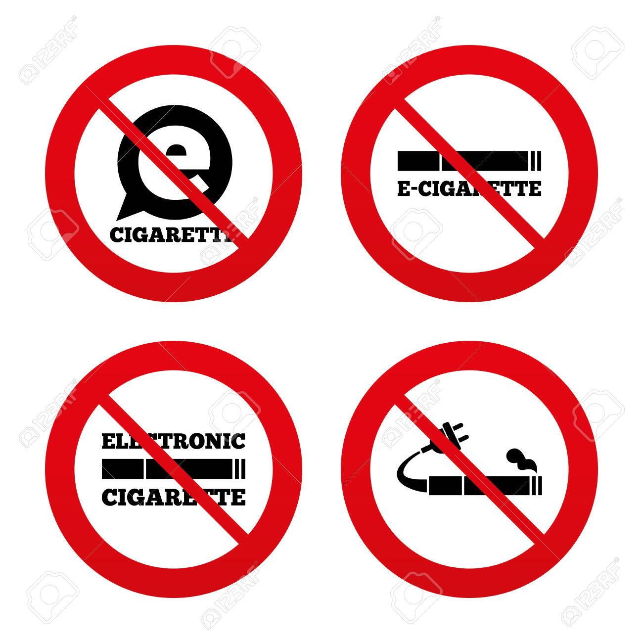 No ban or stop signs e cigarette with plug icons electronic no ban or stop signs e cigarette with plug icons electronic smoking buycottarizona Images