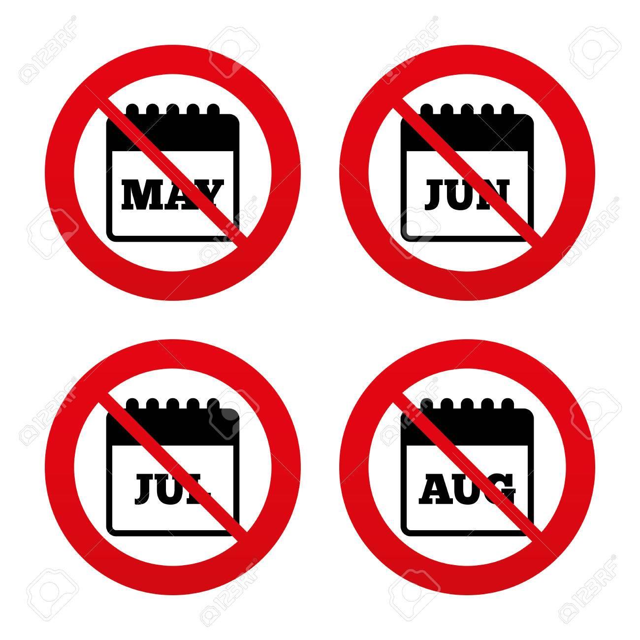 No ban or stop signs calendar icons may june july and august no ban or stop signs calendar icons may june july and buycottarizona Image collections
