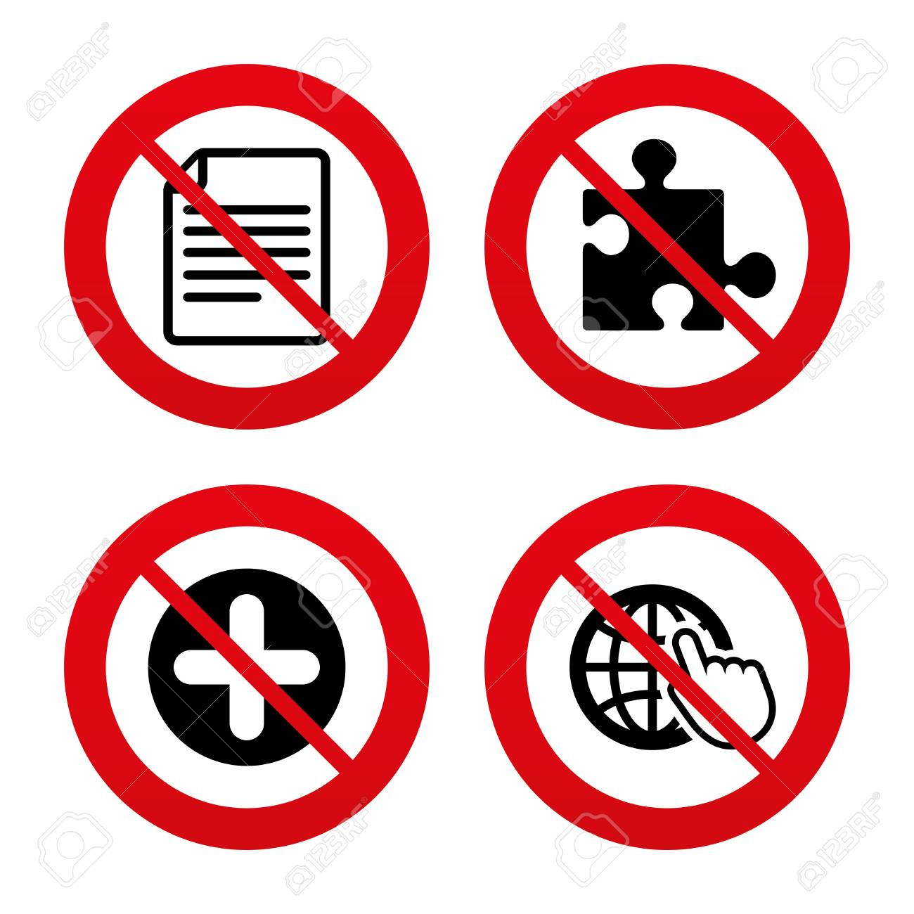 No ban or stop signs plus add circle and puzzle piece icons plus add circle and puzzle piece icons document buycottarizona