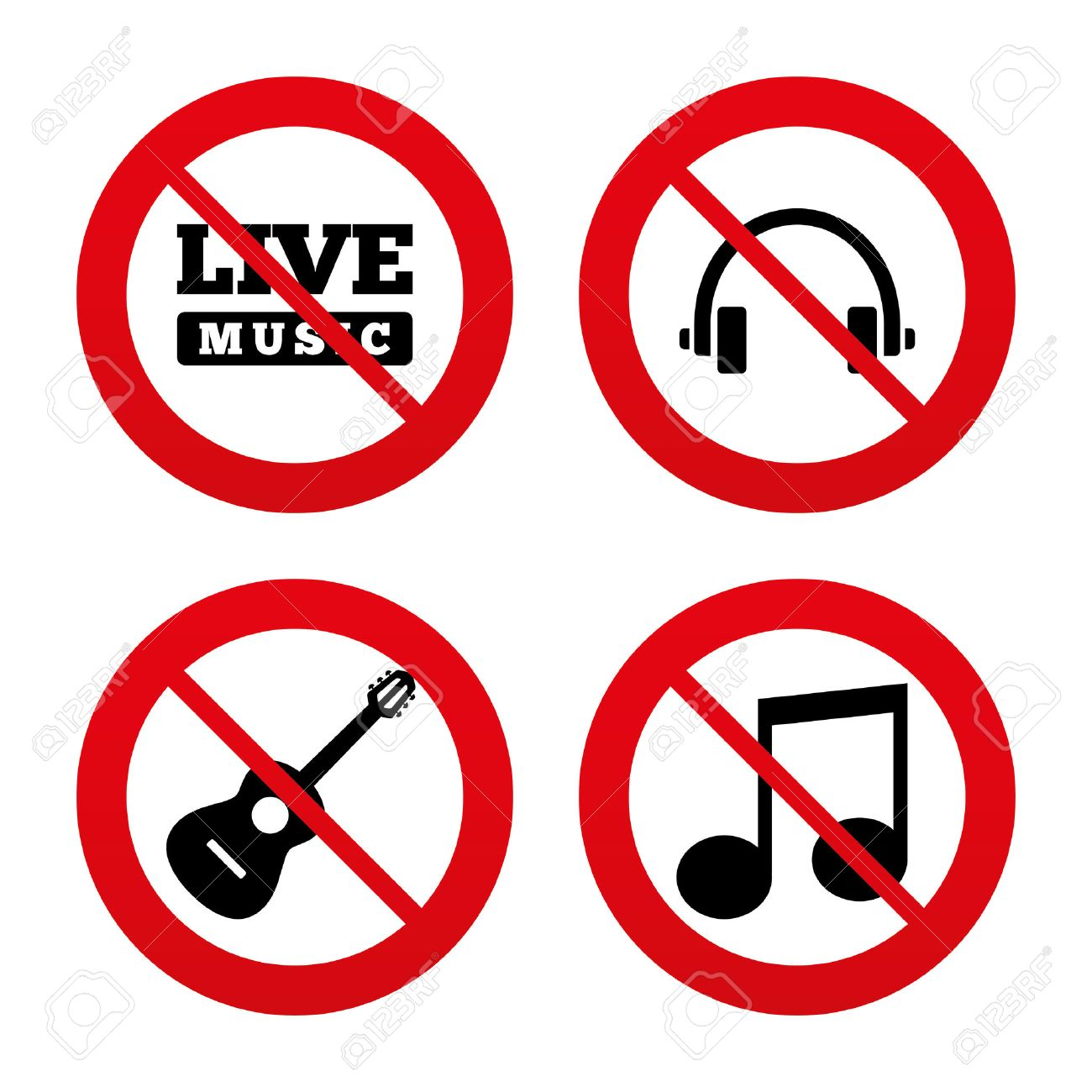 No ban or stop signs musical elements icons musical note key vector no ban or stop signs musical elements icons musical note key and live buycottarizona Gallery