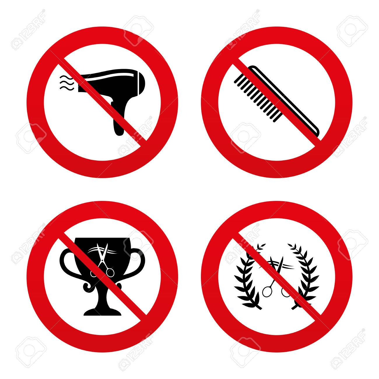 No ban or stop signs hairdresser icons scissors cut hair symbol no ban or stop signs hairdresser icons scissors cut hair symbol comb biocorpaavc Choice Image