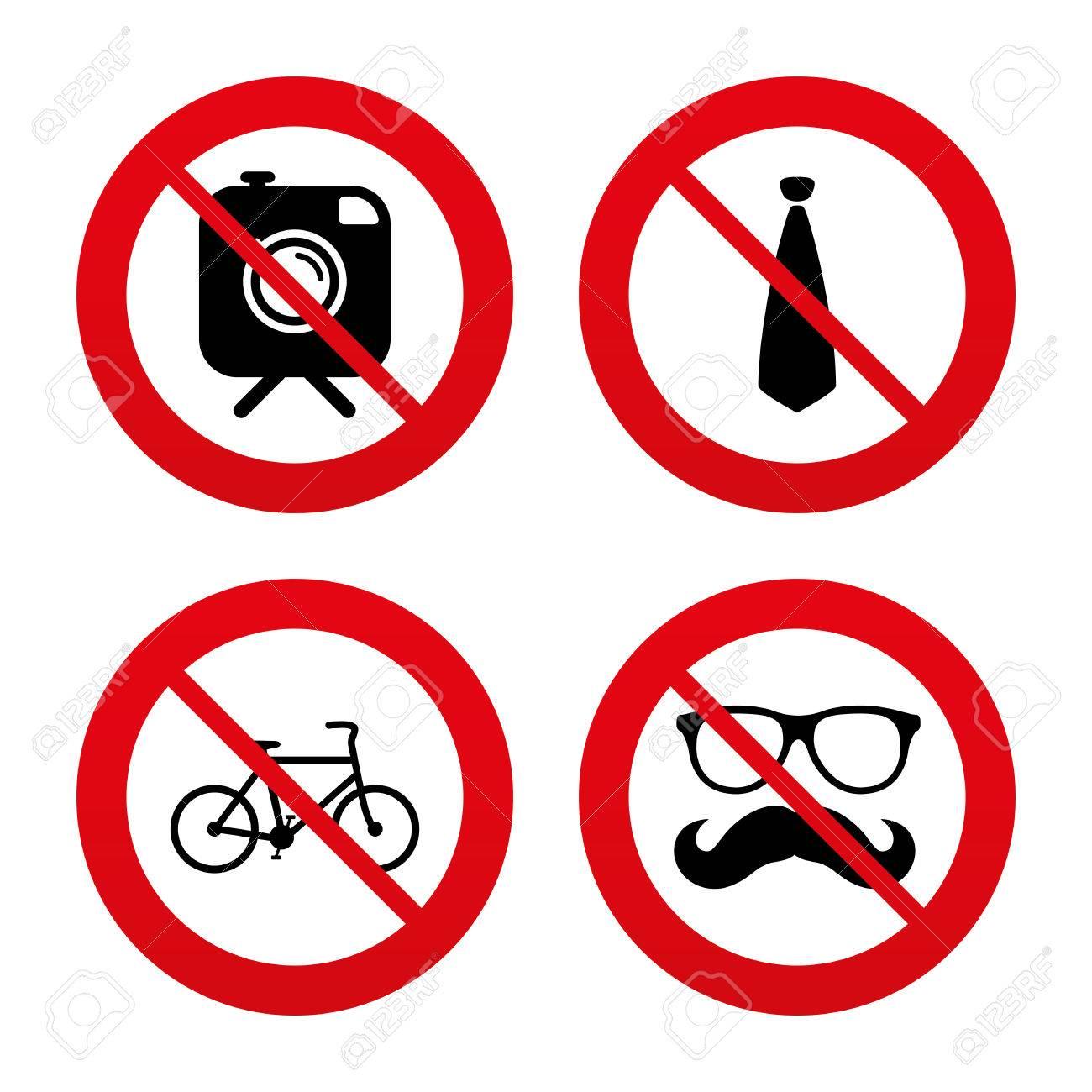 Signos No Ban O Detenerse Cámara De Fotos Del Inconformista Con El