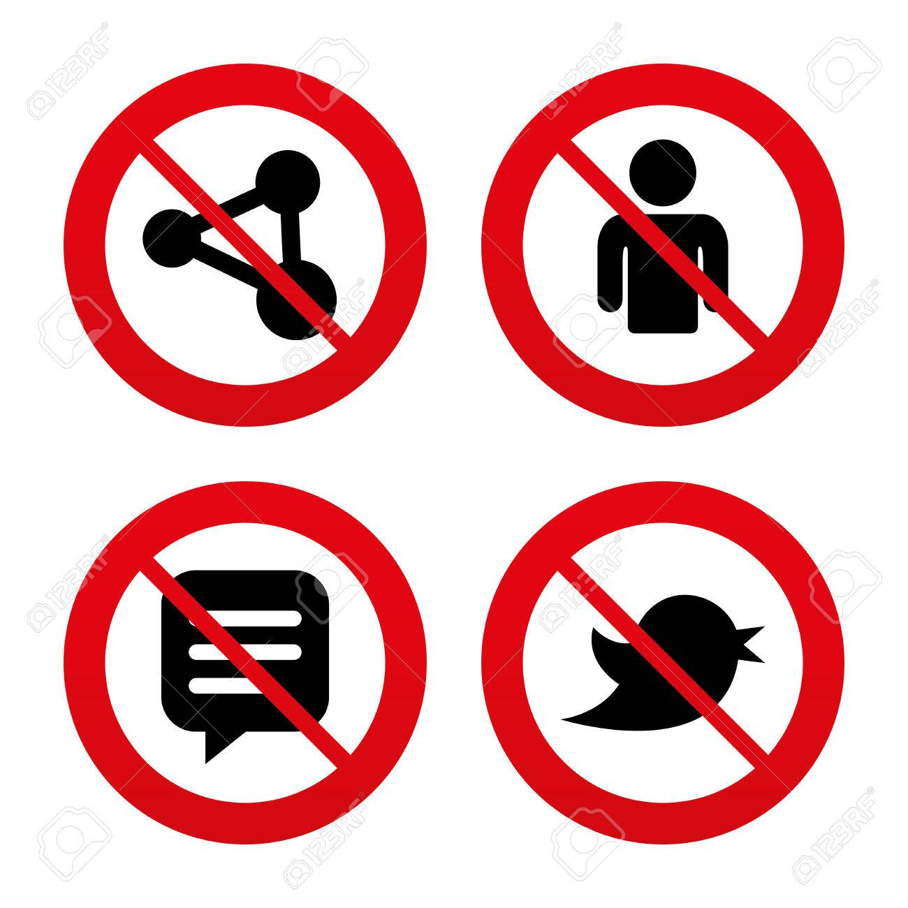 No ban or stop signs human person and share icons speech bubble no ban or stop signs human person and share icons speech bubble symbols biocorpaavc Gallery