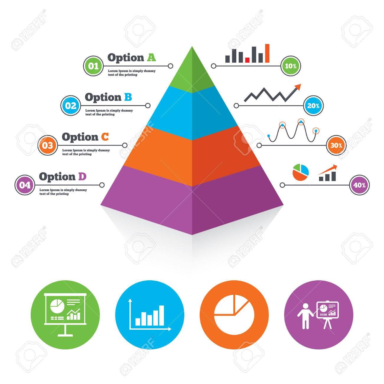 pyramid chart template diagram graph pie chart icon presentation