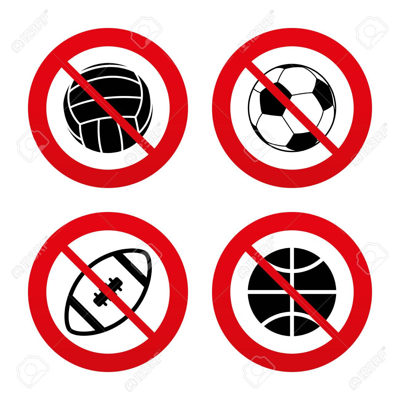 No ban or stop signs sport balls icons volleyball basketball no ban or stop signs sport balls icons volleyball basketball soccer biocorpaavc Choice Image
