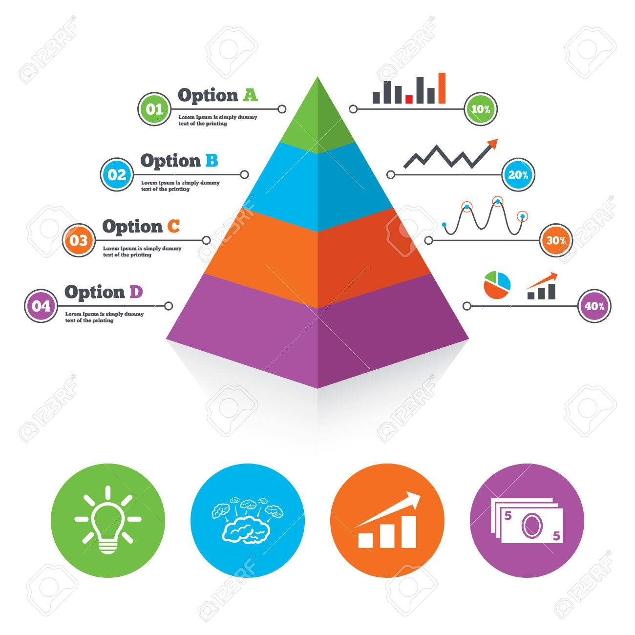 a pyramid scheme cliparts  stock vector and royalty free a pyramid    a pyramid scheme  pyramid chart template  chart   arrow  brainstorm icons  cash