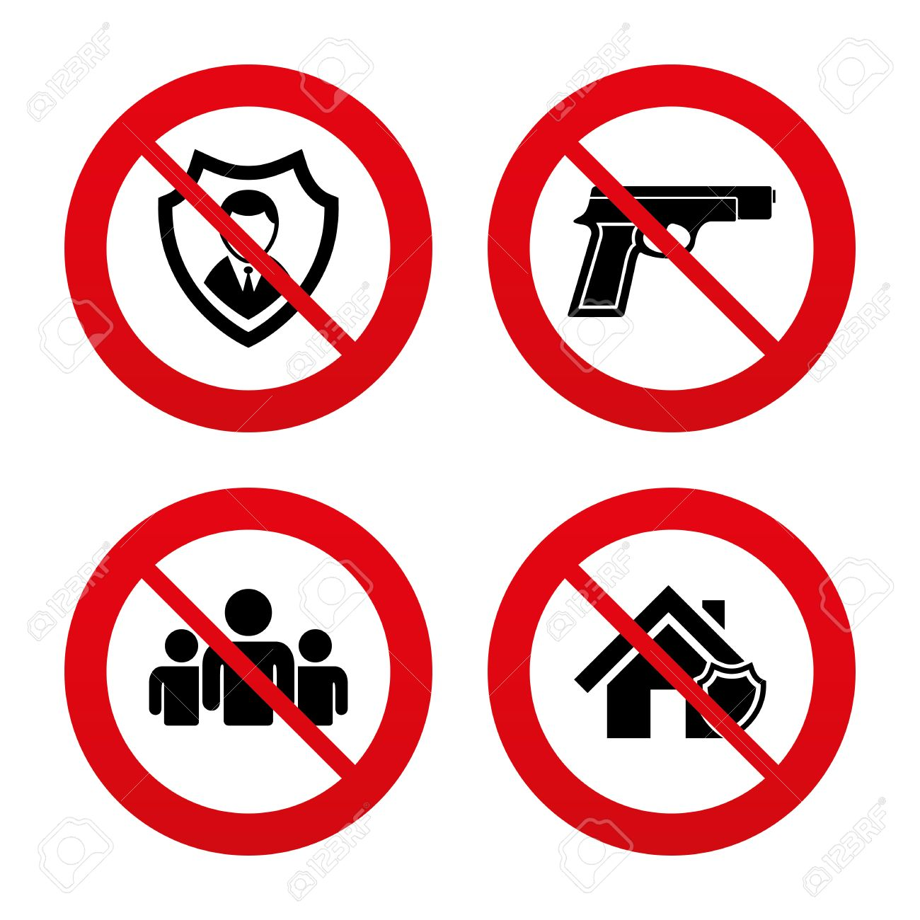 No ban or stop signs security agency icons home shield no ban or stop signs security agency icons home shield protection symbols biocorpaavc