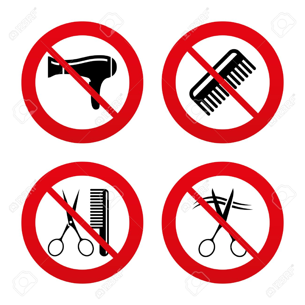 No ban or stop signs hairdresser icons scissors cut hair symbol no ban or stop signs hairdresser icons scissors cut hair symbol comb biocorpaavc
