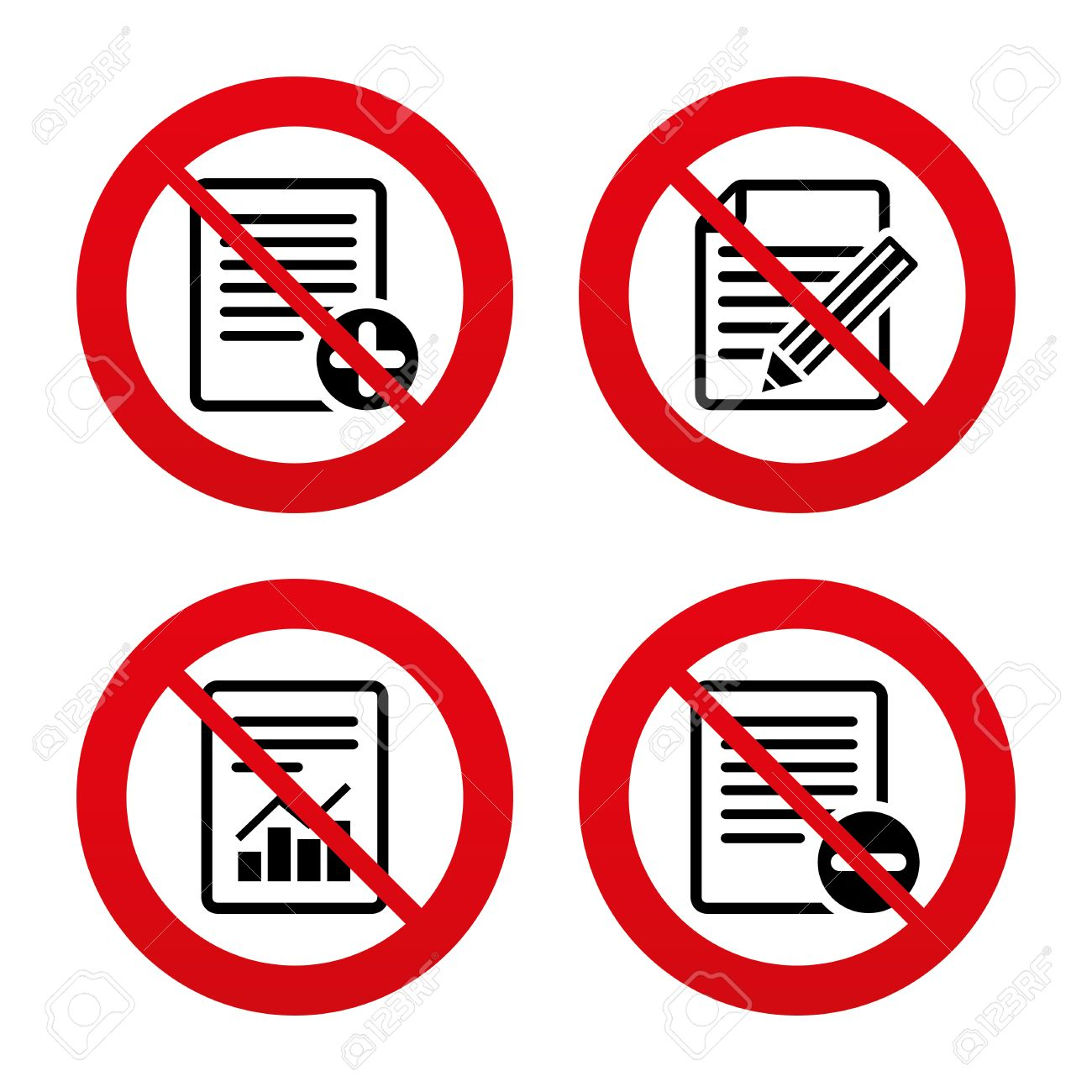 No ban or stop signs file document icons document with chart no ban or stop signs file document icons document with chart or graph buycottarizona