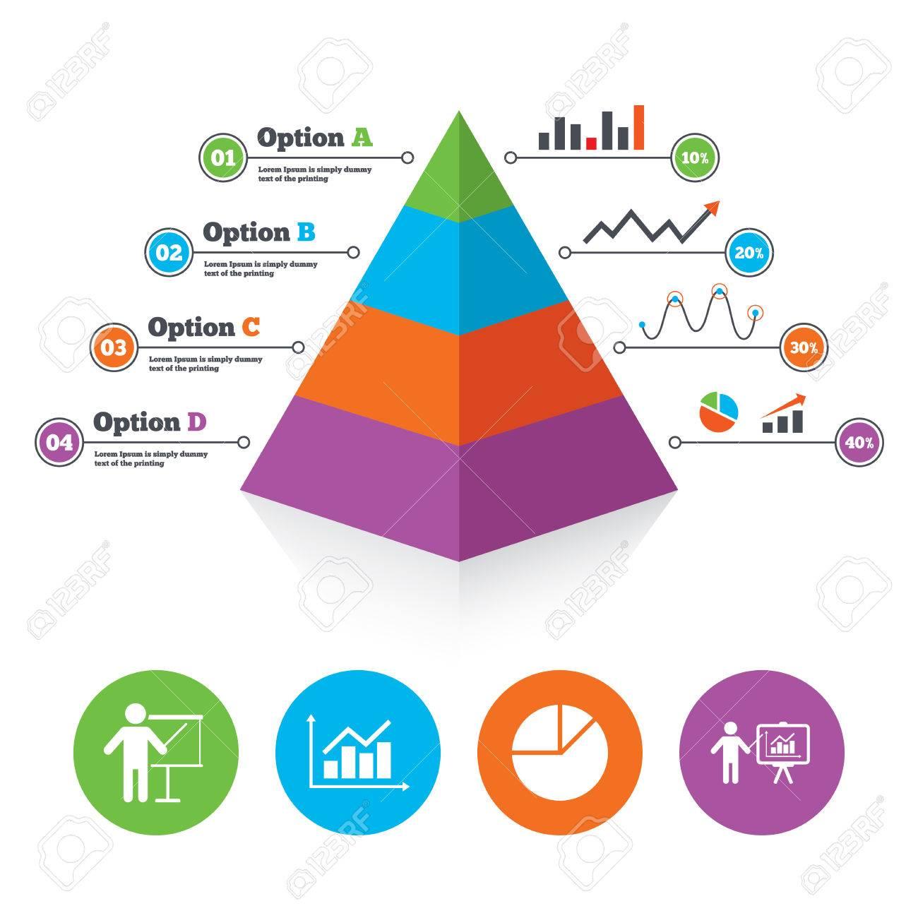 Pyramid Chart Template. Diagram Graph Pie Chart Icon. Presentation ...