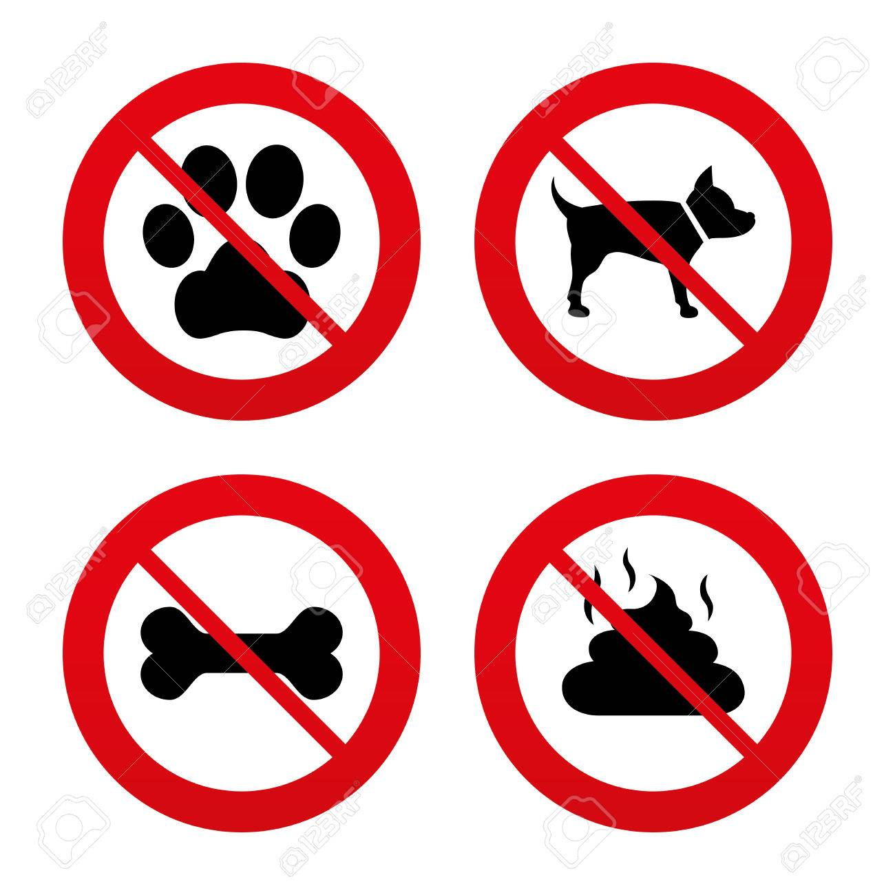 Dog Forbidden Stock Illustrations, Cliparts And Royalty Free Dog ...