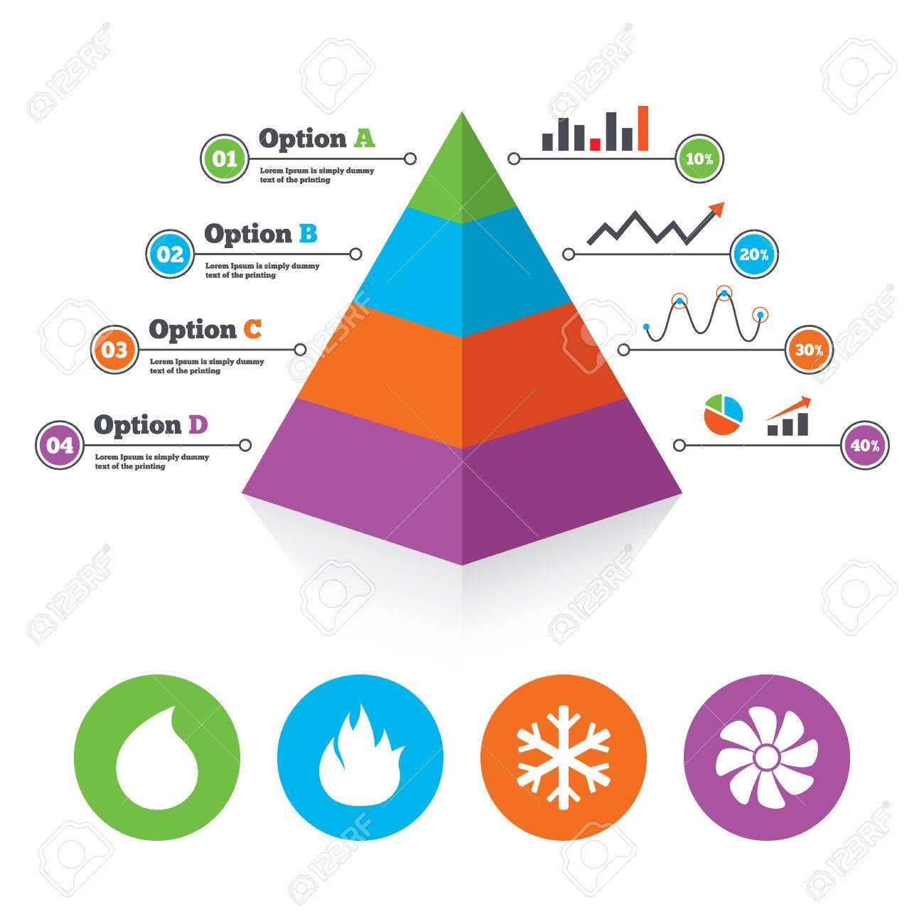 Pyramid Diagrammvorlage. HVAC-Icons. Heizungs-, Lüftungs- Und ...