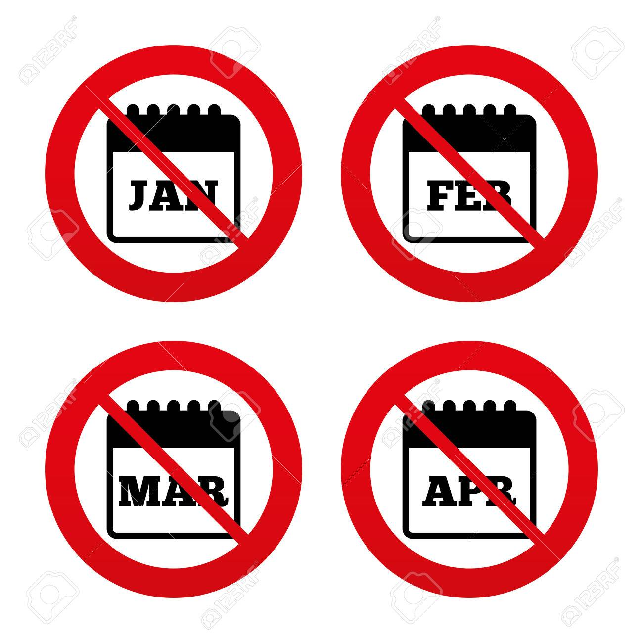 No ban or stop signs calendar icons january february march no ban or stop signs calendar icons january february march and buycottarizona