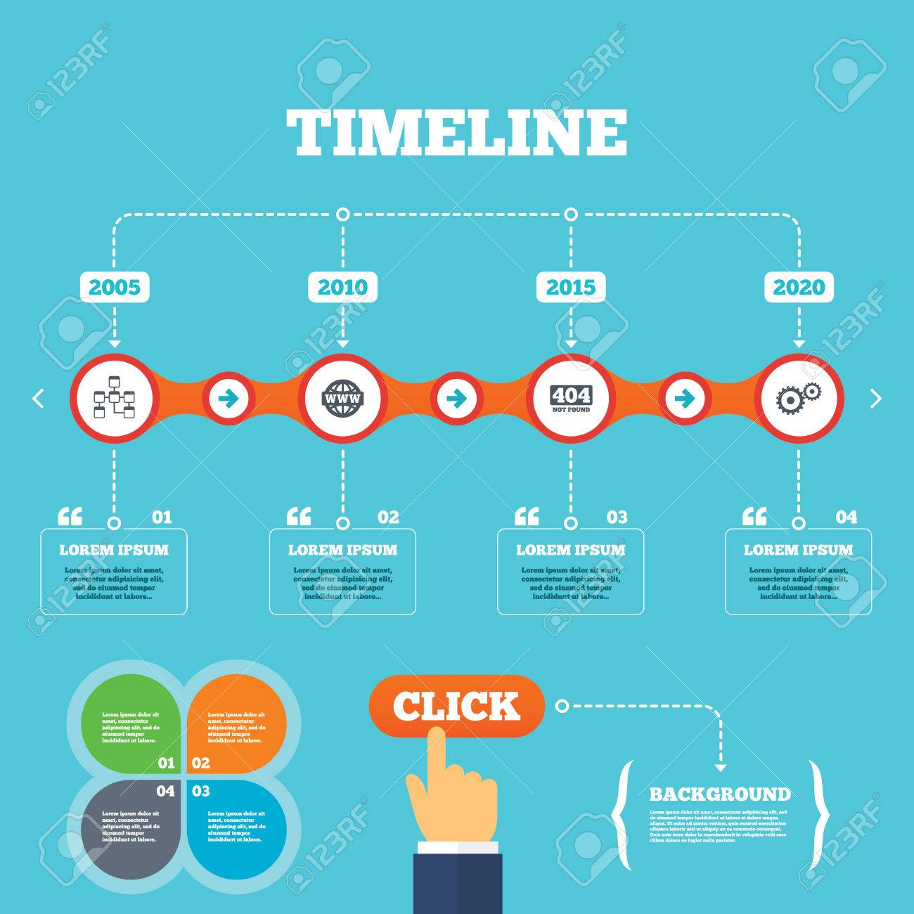 Internet Quotes Timeline With Arrows And Quoteswebsite Database Iconinternet