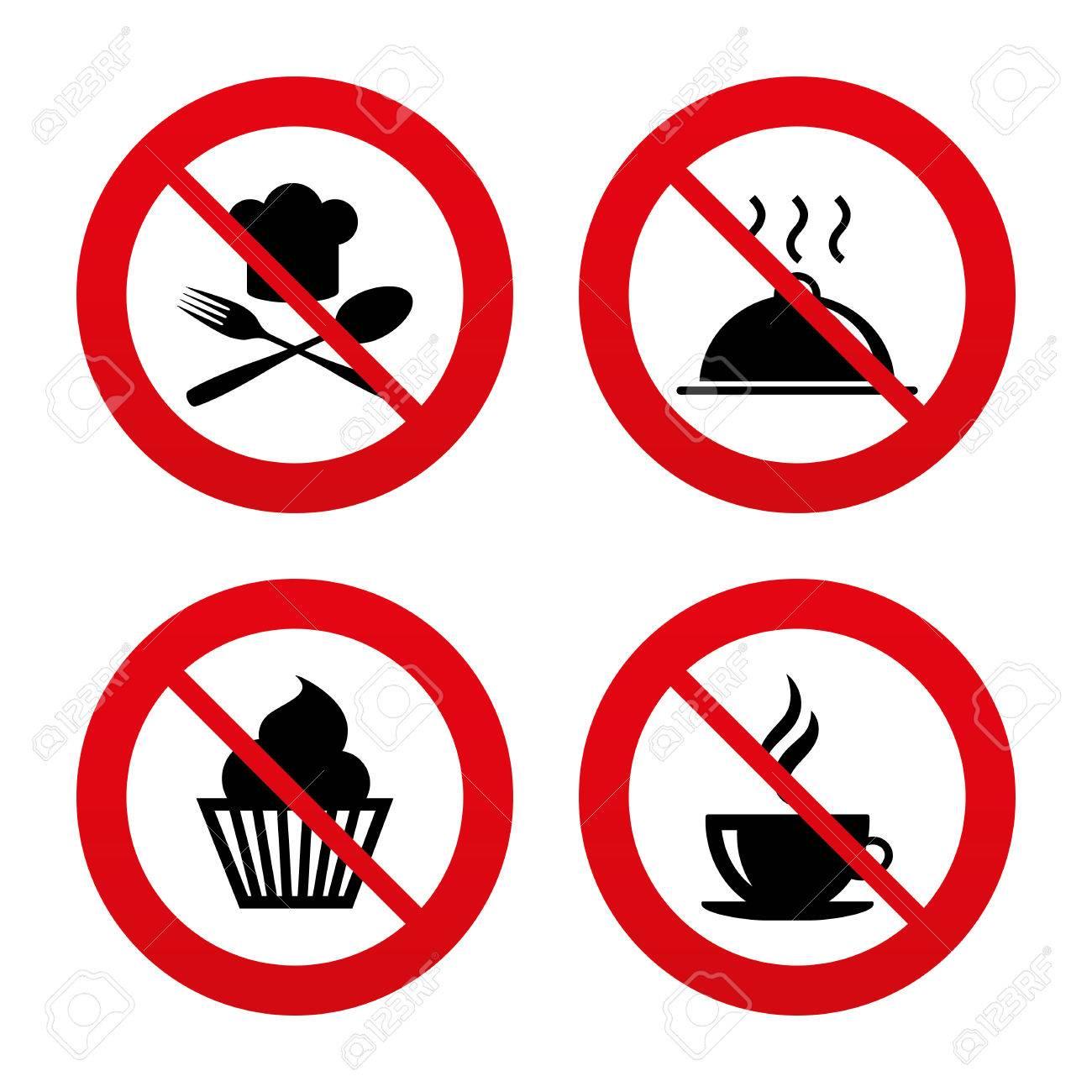 Nein Ban Oder Stoppschilder Essen Und Trinken Icons Muffin Kuchen