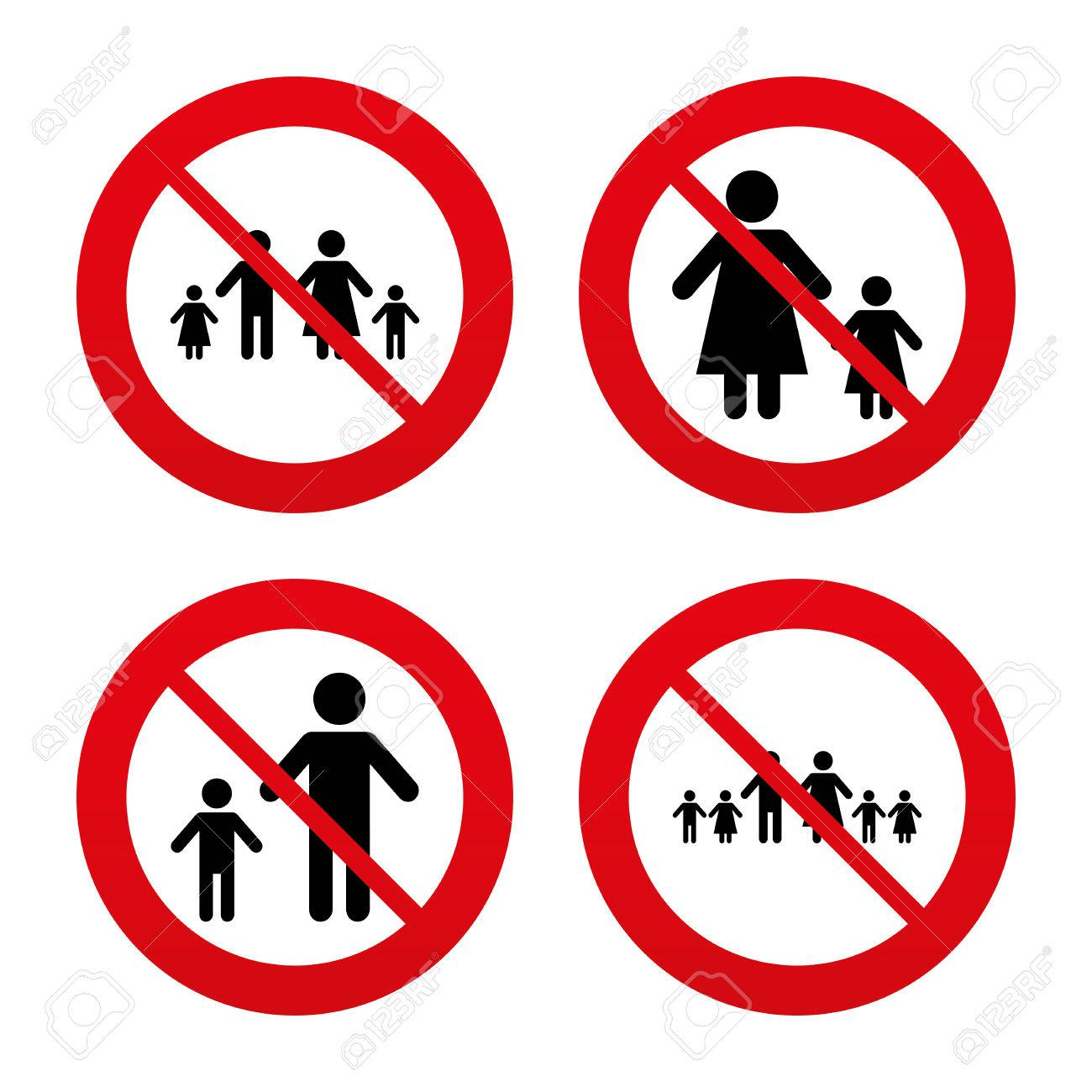 No ban or stop signs large family with children icon parents no ban or stop signs large family with children icon parents and kids buycottarizona