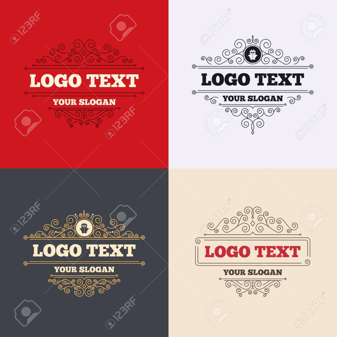 Royal flourishes calligraphic ship or boat sign icon shipping royal flourishes calligraphic ship or boat sign icon shipping delivery symbol luxury ornament buycottarizona