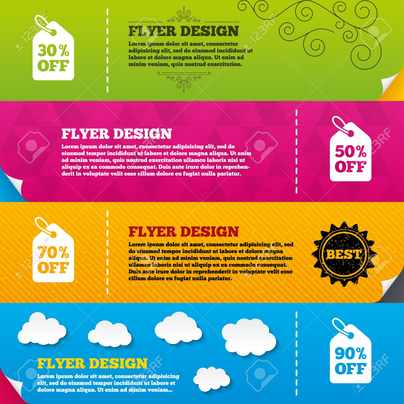 Flyer brochure designs sale price tag icons discount special flyer brochure designs sale price tag icons discount special offer symbols 30 biocorpaavc Choice Image