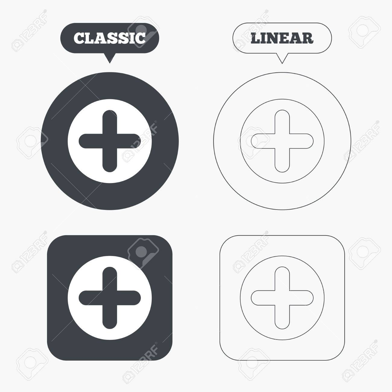 Plus sign icon positive symbol zoom in classic and line web plus sign icon positive symbol zoom in classic and line web buttons biocorpaavc Choice Image