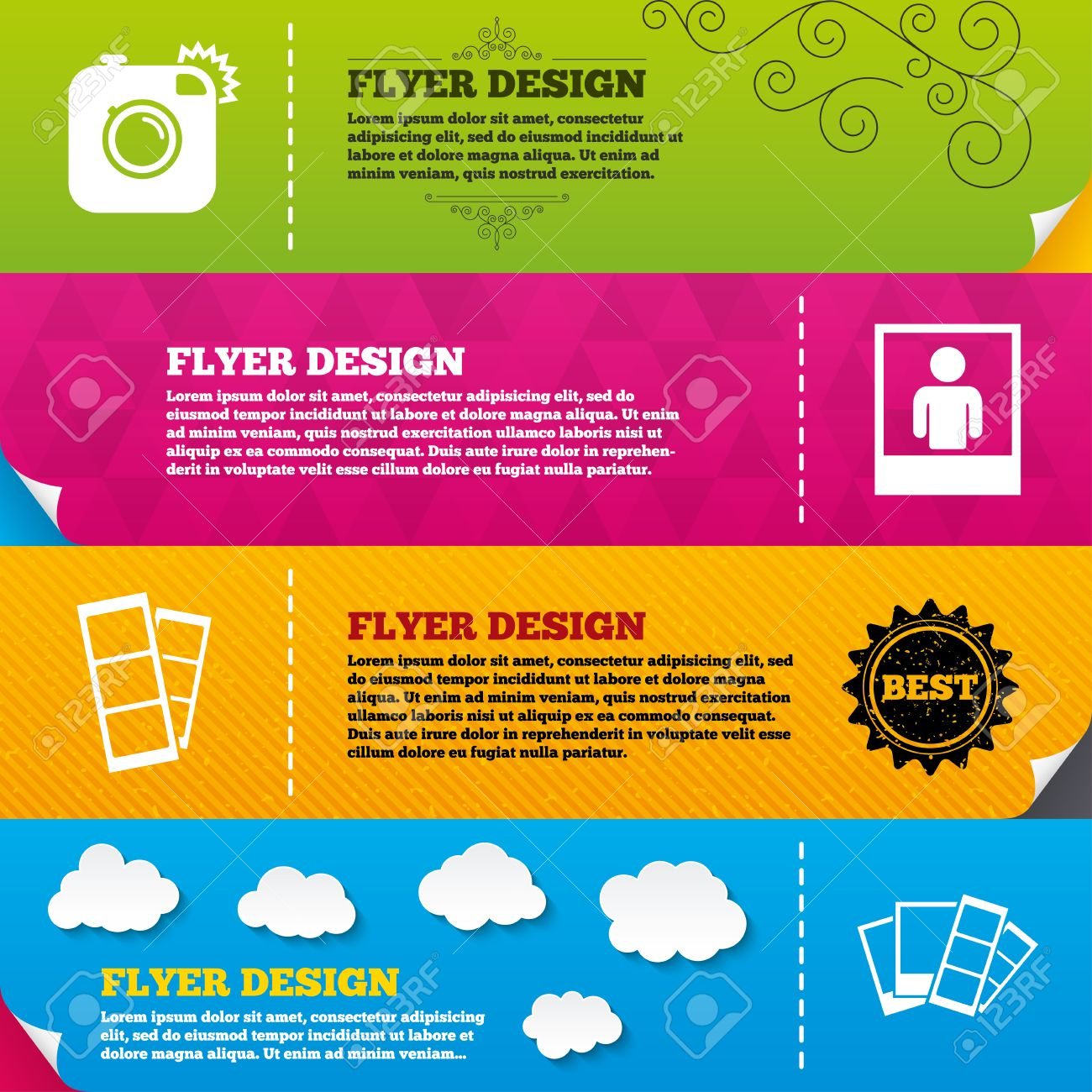 Po Booth Templates Free | Flyer Brochure Designs Hipster Photo Camera Icon Flash Light