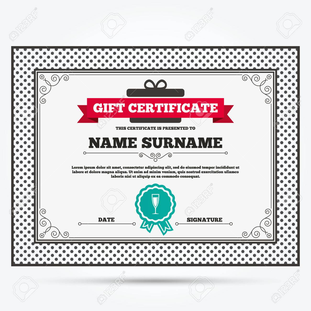 Gift certificate glass of champagne sign icon sparkling wine gift certificate glass of champagne sign icon sparkling wine celebration or banquet alcohol yelopaper Gallery