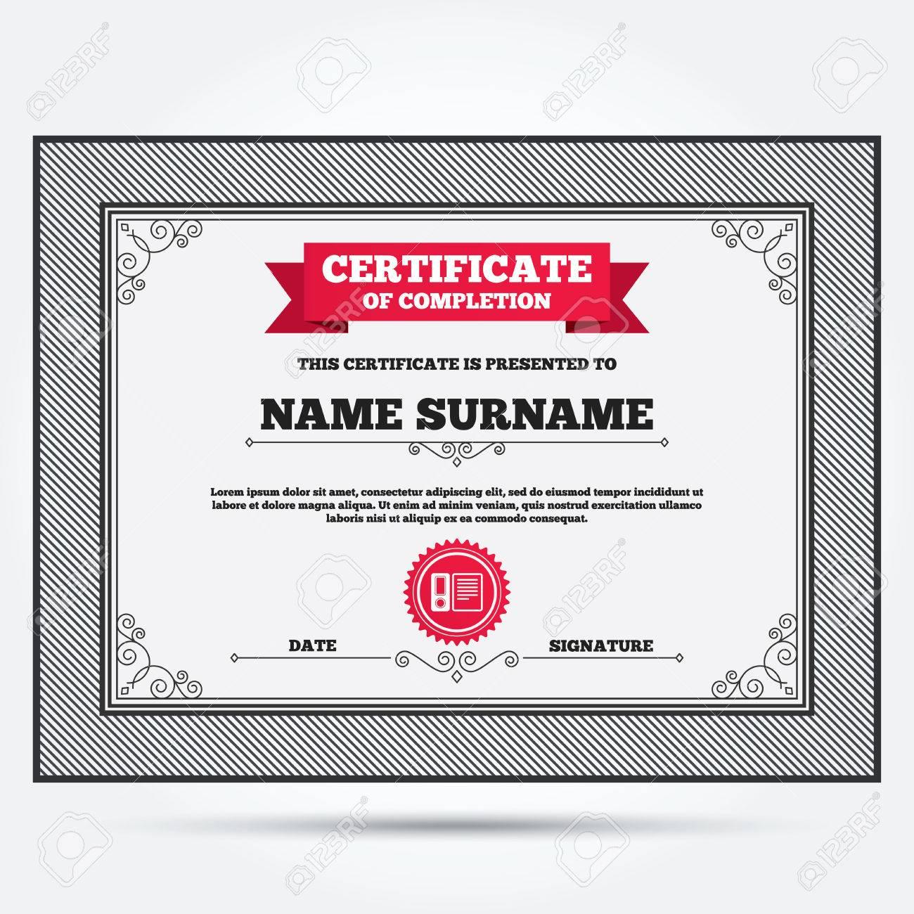 Bescheinigung über Den Abschluss Dokumentenordner Zeichen