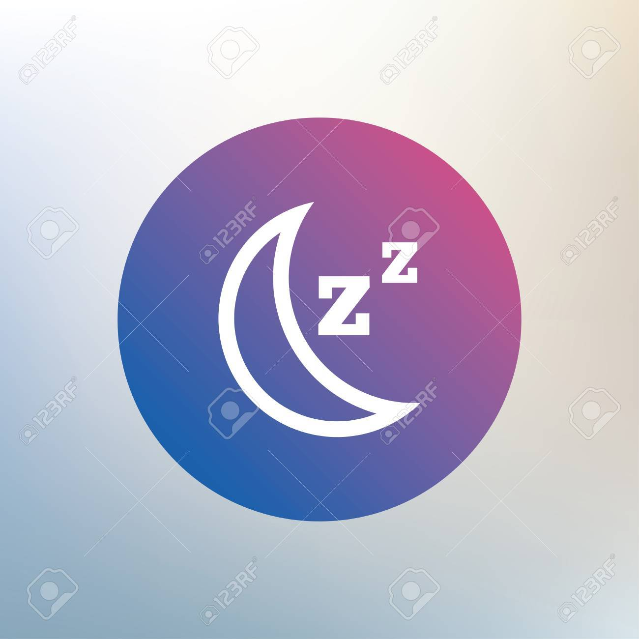 Sleep sign icon moon with zzz button standby icon on blurred moon with zzz button standby icon on blurred background biocorpaavc