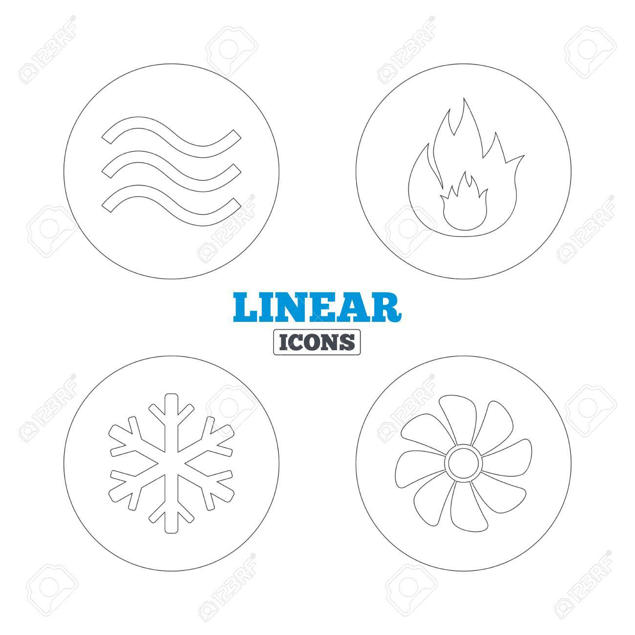 hvac icons  heating, ventilating and air conditioning symbols  water  supply  climate control
