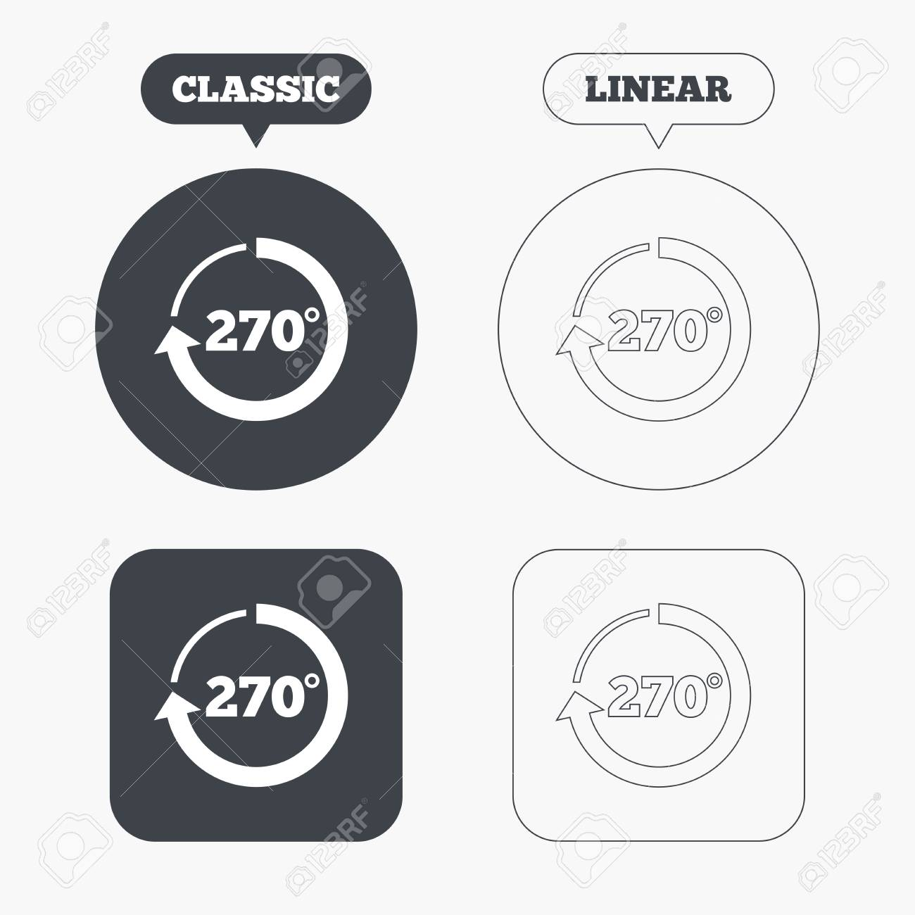 Angle 270 degrees sign icon geometry math symbol classic and geometry math symbol classic and line web buttons biocorpaavc Images