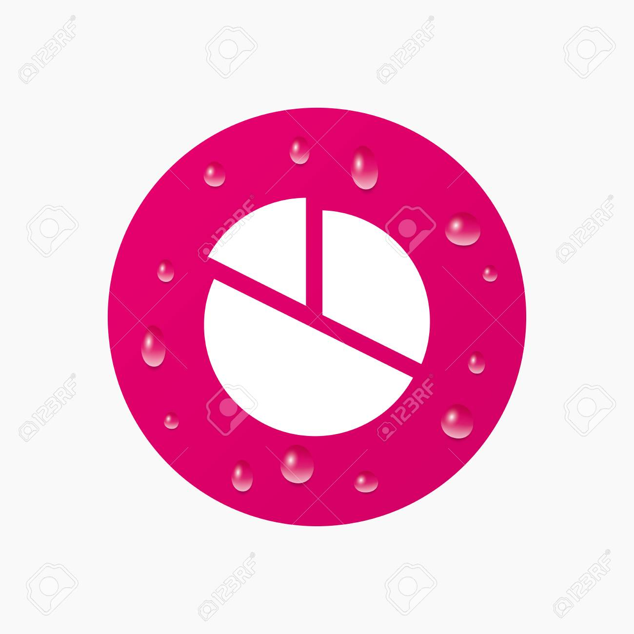 Water drops on button pie chart graph sign icon diagram button vector water drops on button pie chart graph sign icon diagram button realistic pure raindrops pink circle vector ccuart Image collections