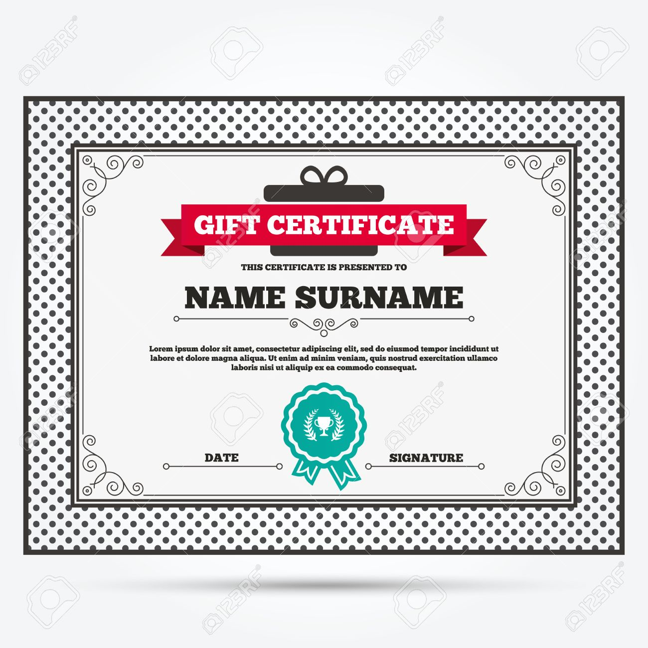 1st prize certificate template – 1st Place Award Certificate